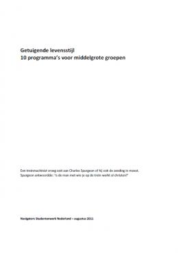 10 programma's voor middelgrote groepen