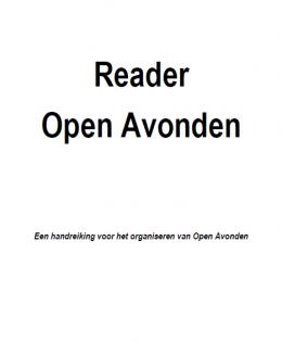 Reader Open Avonden binnen dispuut/kringhuis